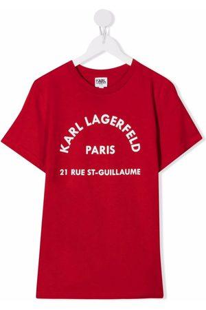 Karl Lagerfeld Short Sleeve - Logo-print short-sleeve T-shirt