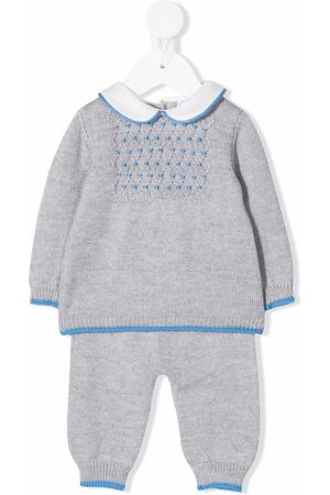 SIOLA Bodysuits & All-In-Ones - Knitted merino-wool babygrow set - Grey