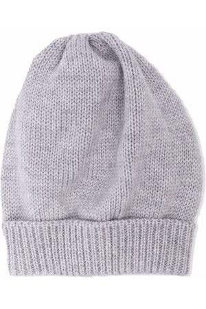 SIOLA Beanies - Purl-knit merino beanie - Grey
