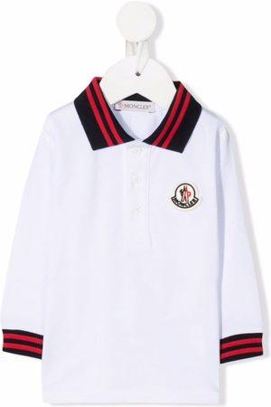 Moncler Polo Shirts - Logo-patch cotton polo top