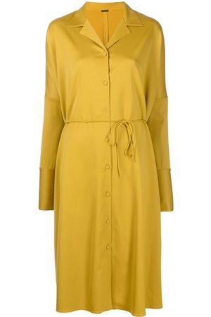 ADAM LIPPES Women Tunic Dresses - Tie-waist buttoned caftan dress