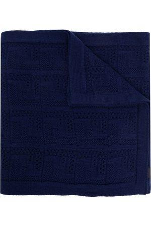 Fendi Men Scarves - Logo pointelle-knit scarf