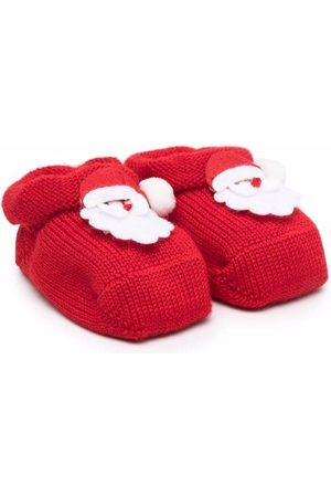 Story Loris Boots - Santa patch-embellished booties