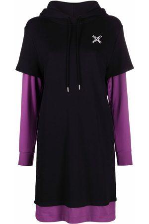 Kenzo Women Hoodies - Two-tone layered hoodie dress