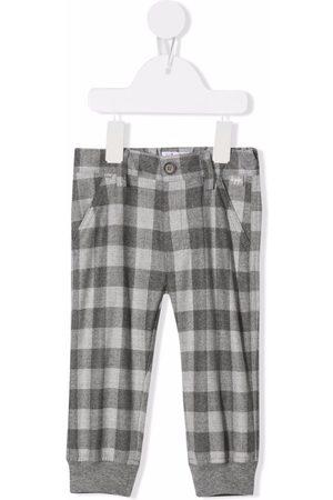 Il gufo Check pattern trousers - Grey