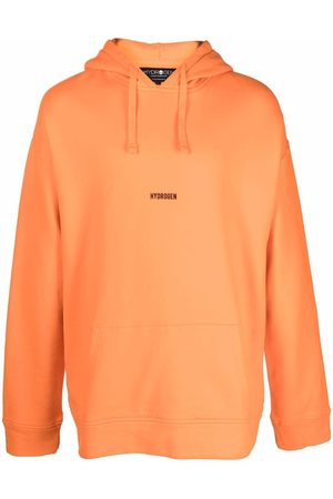 Hydrogen Logo-print pullover hoodie