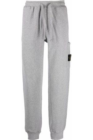 Stone Island Logo-patch cargo-pocket track pants - Grey