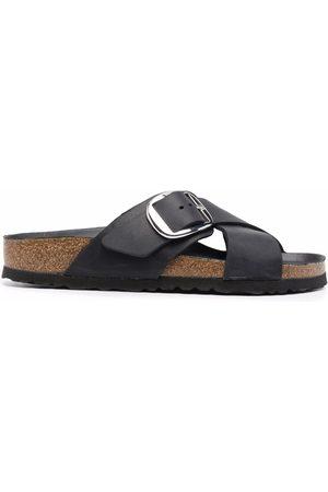 Birkenstock Cross-strap leather sandals