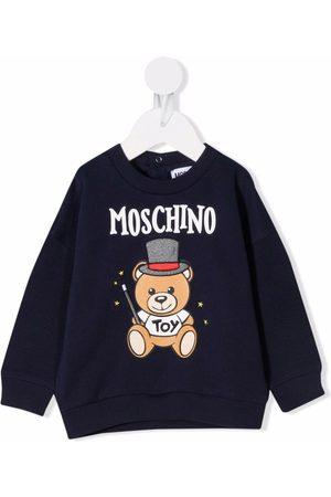 Moschino Hoodies - Teddy Bear-print cotton sweatshirt