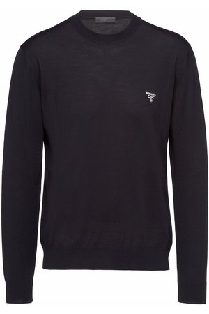 Prada Men Long sleeves - Superfine wool long-sleeve jumper