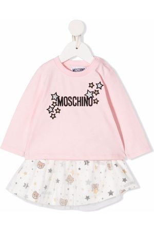Moschino Loungewear - Embroidered logo two-piece set