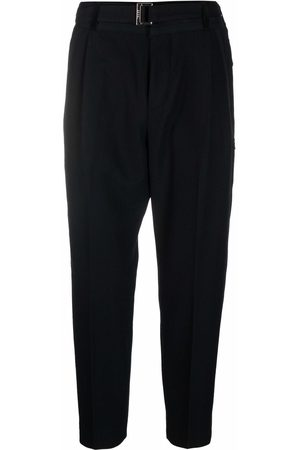 SACAI Men Formal Pants - Cropped tapered-leg tailored trousers