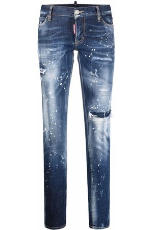 Dsquared2 Women Skinny - Distressed-effect skinny-fit jeans