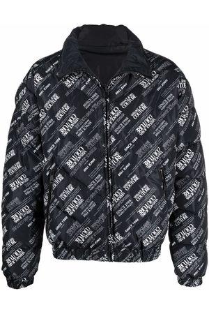VERSACE Monogram-print puffer coat