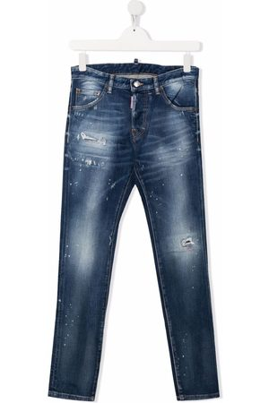 Dsquared2 Straight - TEEN mid-rise straight-leg jeans