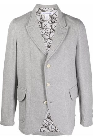 Comme des Garçons Men Blazers - Single-breasted pouch-pocket blazer - Grey