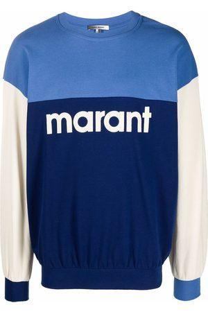 Isabel Marant Men Sweatshirts - Aftone colour-block cotton sweatshirt