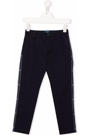 FAY KIDS Boys Skinny Pants - Logo tape slim-fit trousers
