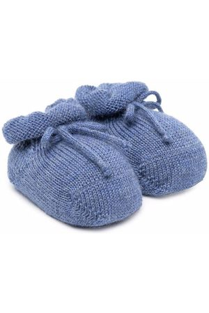 Story Loris Flat Shoes - Tie-front crib shoes