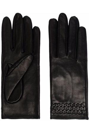 Manokhi Women Gloves - Embroidered-detail leather gloves