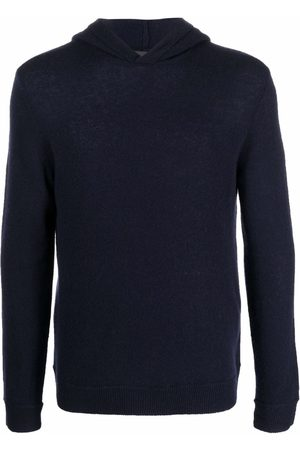 Emporio Armani Men Long sleeves - Long-sleeve knitted cashmere hoodie