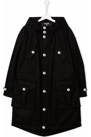 Balmain Parkas - TEEN hooded parka coat