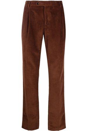 PT01 Men Straight Leg Pants - Straight leg ribbed trousers