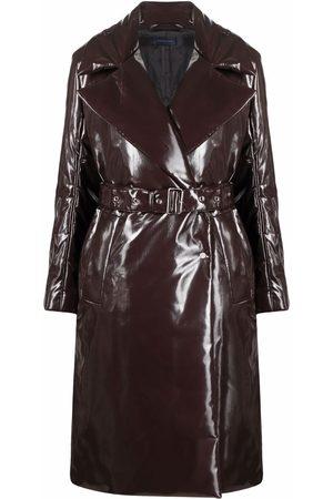 EUDON CHOI Vinyl belted coat