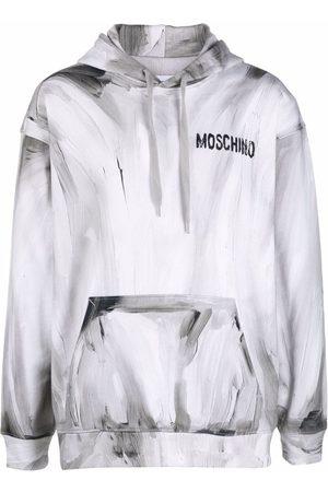 Moschino Logo-print pullover hoodie - Grey