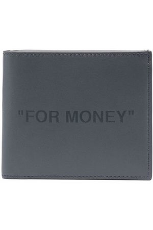 OFF-WHITE For Money print bi-fold wallet - Grey