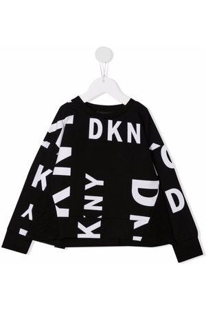 DKNY Logo-print ruffle sweatshirt