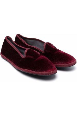 SIOLA Velvet-effect slip-on loafers
