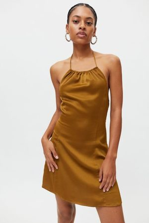 Urban Outfitters UO Shae Halter Slip Dress