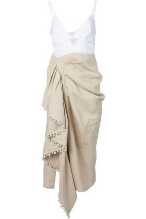 Rosie Assoulin Layered Cami Ruffle Dress Natural
