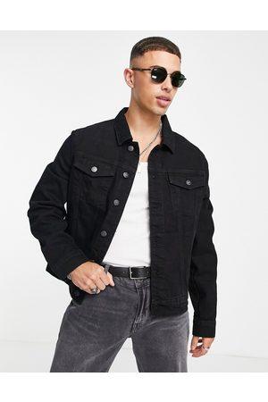 River Island Denim jacket in black