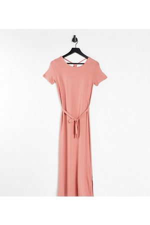 Mama Licious Women Casual Dresses - Mamalicious Maternity jersey maxi dress with back detail in