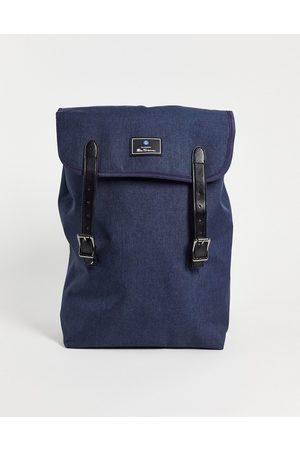 Ben Sherman Top handle flap backpack in navy