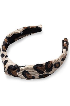Lele Sadoughi Girls' Leopard Print Corduroy Headband