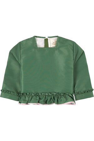 THE MIDDLE DAUGHTER Class Act Taffteta Top with Frill Perrier - 2 Years - - Blouses