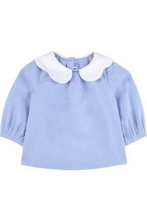 Jacadi Collar Blouse - 6 Months - - Blouses