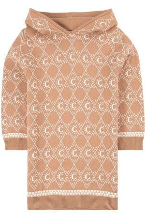 Chloé Kids - Jacquard C Pattern Hooded Dress - 4 years - - Casual dresses