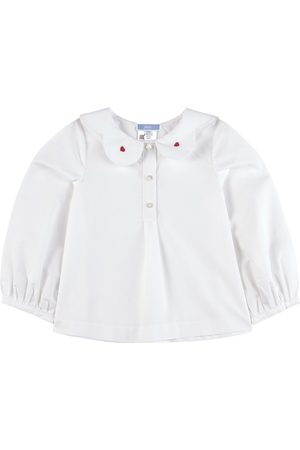 Jacadi Blouse With Embroidered Collar - 6 Months - - Blouses