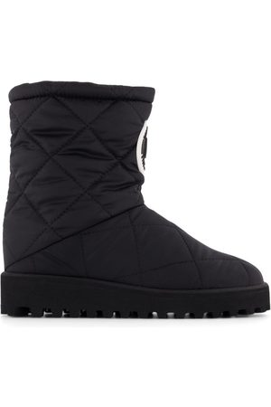 Dolce & Gabbana Kids - Logo Quilt Boots - 24 (UK 7) - - Tall boots