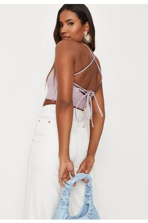Missguided Women Camisoles - Lilac Faux Leather Cami Strap Bralette