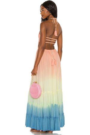 TIARE HAWAII Naia Maxi Dress in Peach, .