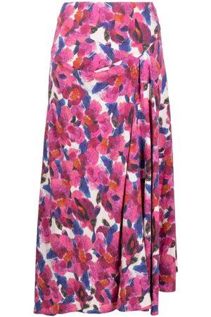 Isabel Marant Floral Print Asymmetric Hem Skirt
