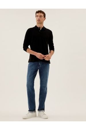 M&S Collection Organic Cotton Straight Fit Stretch Jeans