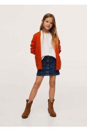 MANGO Girls Denim Skirts - Buttoned denim skirt