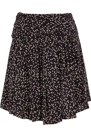 Isabel Marant Calista printed satin mini skirt