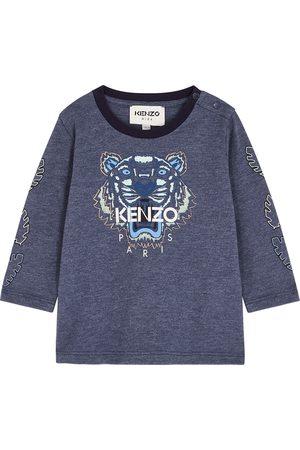 Kenzo Tops - Tiger-print cotton top